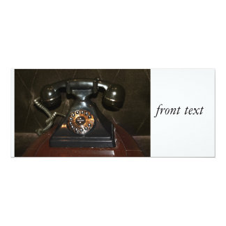 Old Vintage Dial-up Phone 4x9.25 Paper Invitation Card