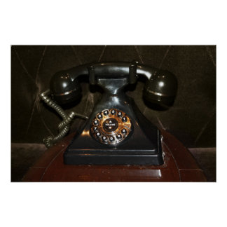 Old Vintage Dial-up Phone Poster