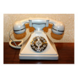 Old Vintage Dial-up White Phone Business Card