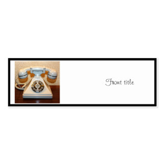 Old Vintage Dial-up White Phone Double-Sided Mini Business Cards (Pack Of 20)
