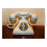 Old Vintage Dial-up White Phone Card