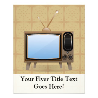 "Old Vintage Floor Television 4.5"" X 5.6"" Flyer"