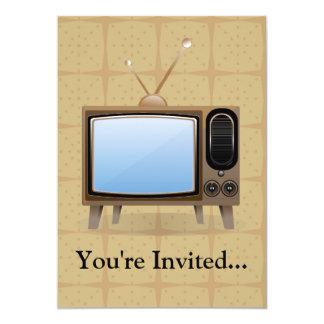 Old Vintage Floor Television 5x7 Paper Invitation Card