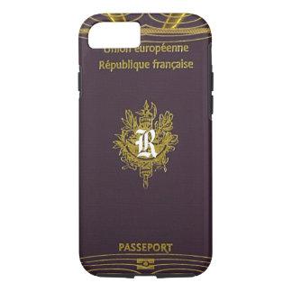 Old Vintage French Passport Monogram iPhone 8/7 Case