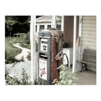 Old Vintage Gas Pump Postcard