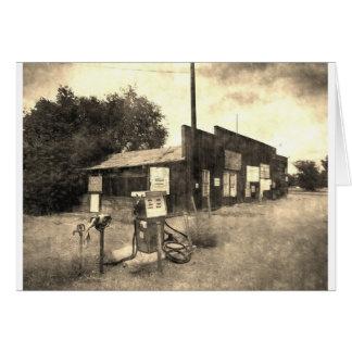 Old Vintage Gas Station Card