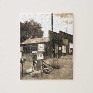 Old Vintage Gas Station Jigsaw Puzzle
