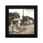 Old Vintage Gas Station Keepsake Box