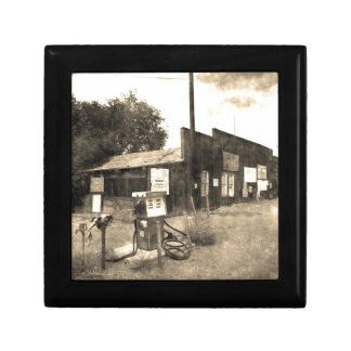 Old Vintage Gas Station Keepsake Box