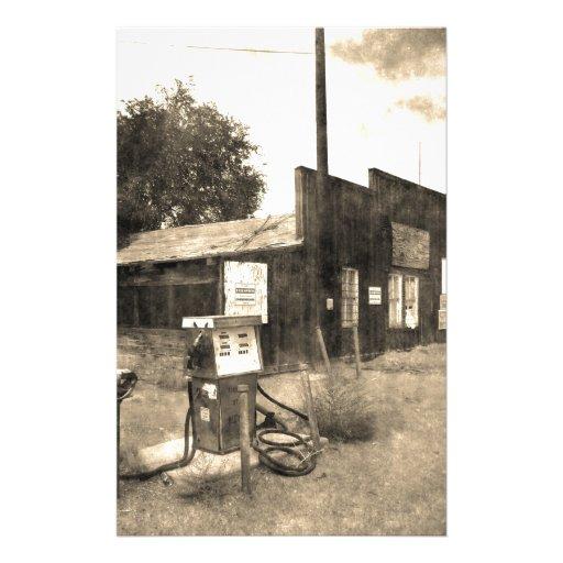 Old Vintage Gas Station Stationery Design
