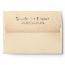 Old Vintage Gothic Wedding Envelope