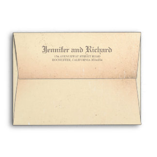 Old Vintage Gothic Wedding Envelope
