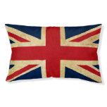 Old Vintage Grunge United Kingdom Flag Union Jack Pet Bed