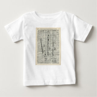 Old Vintage Guitar Illustration On Dictionary Page Baby T-Shirt