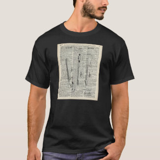 Old Vintage Guitar Illustration On Dictionary Page T-Shirt