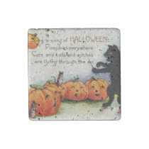 Old Vintage Halloween Funny Stone Magnet