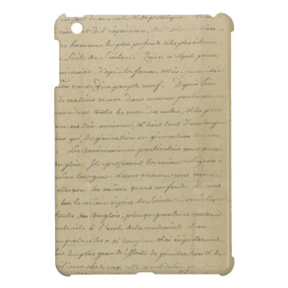 old vintage handwriting case for the iPad mini