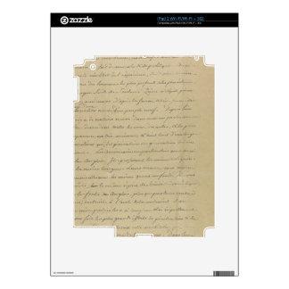 old vintage handwriting iPad 2 decals