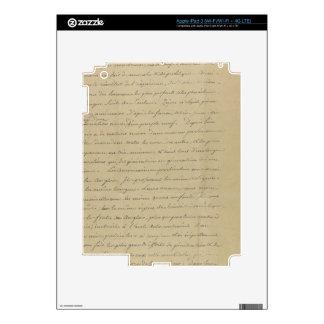 old vintage handwriting iPad 3 skins