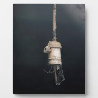 Old Vintage Hanging Lightbulb Electric Plaque