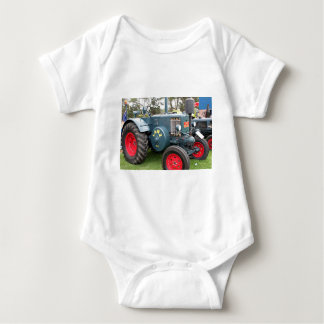 Old vintage Lanz Bulldog tractor farm machinery Baby Bodysuit