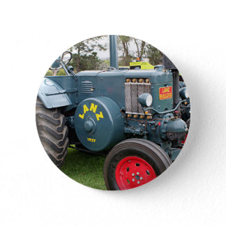 Old vintage Lanz Bulldog tractor farm machinery Button