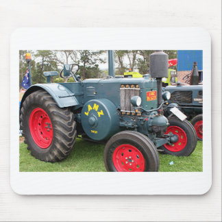Old vintage Lanz Bulldog tractor farm machinery Mouse Pad