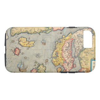 Old Vintage Map of Scandinavia iPhone 7 Case