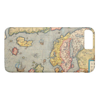 Old Vintage Map of Scandinavia iPhone 7 Plus Case