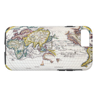 Old Vintage Map of the Known World Circa 1700 iPhone 7 Case