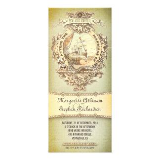 old vintage nautical wedding invitations