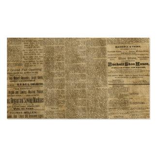 Old Vintage Newspaper Business Card