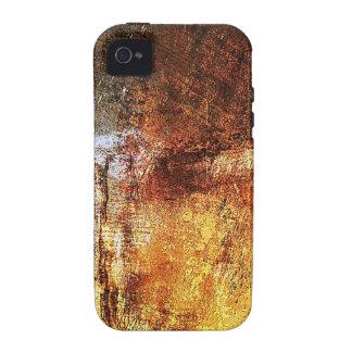 old vintage paper rusty brown art burn smoke Abstr iPhone 4 Cover