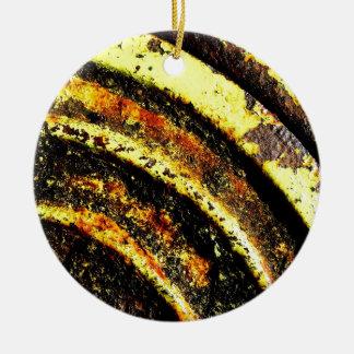 old vintage paper rusty brown art burn smoke Abstr Christmas Tree Ornaments