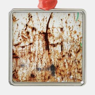 old vintage paper rusty brown art burn smoke Abstr Christmas Tree Ornament