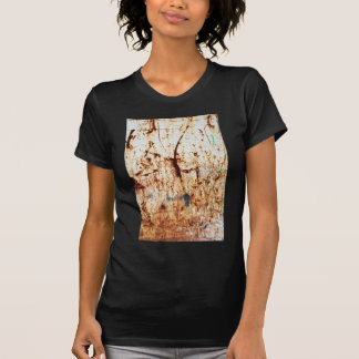 old vintage paper rusty brown art burn smoke Abstr T-Shirt