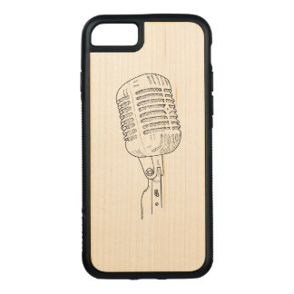 Old Vintage Retro Microphone Carved iPhone 8/7 Case