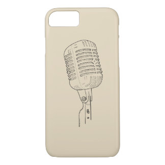 Old Vintage Retro Microphone iPhone 8/7 Case
