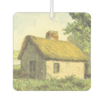[ Thumbnail: Old, Vintage, Rustic Cottage With a Thatched Roof Air Freshener ]