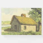 [ Thumbnail: Old, Vintage, Rustic Cottage With a Thatched Roof Guest Book ]