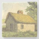 [ Thumbnail: Old, Vintage, Rustic Cottage With a Thatched Roof Coaster ]