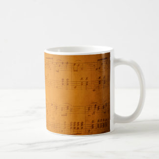 Old vintage sheet music coffee mug