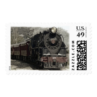 Old Vintage Steam Locomotive Train Stamp