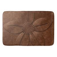 Old Vintage Style Copper Textured Flower Bathroom Mat