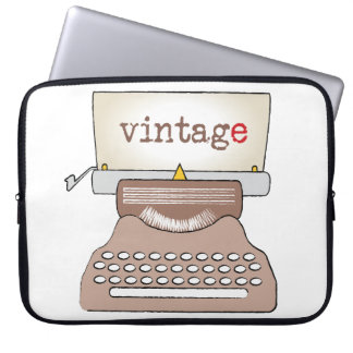 old vintage-style typewriter laptop sleeve