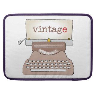 old vintage-style typewriter sleeve for MacBook pro
