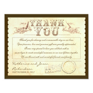 old vintage thank you tickets - cards personalized invitations