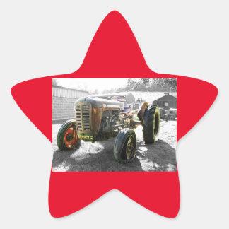Old Vintage Tractor farm machinery Star Sticker