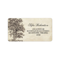 old vintage tree address labels