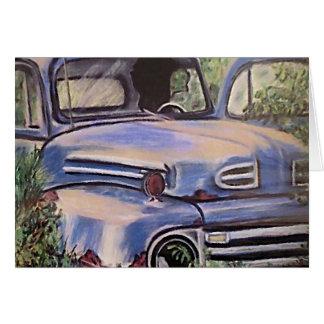 Old Vintage Truck Art Greeting Card
